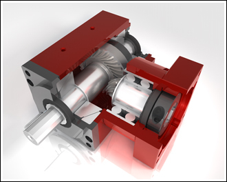 R series right angle gear box