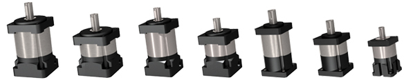 Gearboxes ranging in size to fit most standard stepper and servo motors